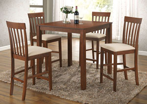 Miranda Cherry Oak Counter Dining Set (Set of 5)
