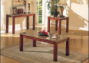 Image for Bologna Brown Marble/Brown End Table