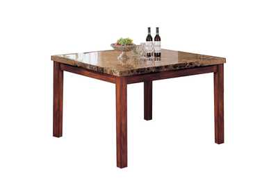 Bologna Brown Marble/Brown Counter Table