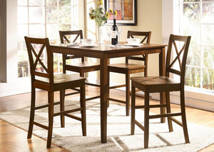 Martha Brown Counter Dining Set (Set of 5)