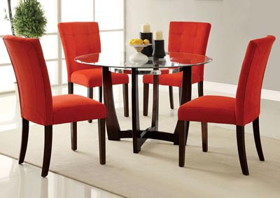 Image for Baldwin Red/Walnut Side Chair (Set of 2)