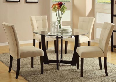 Image for Baldwin Beige/Walnut Side Chair (Set of 2)
