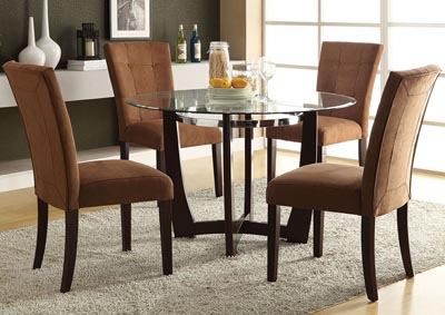Image for Baldwin Chocolate/Walnut Side Chair (Set of 2)