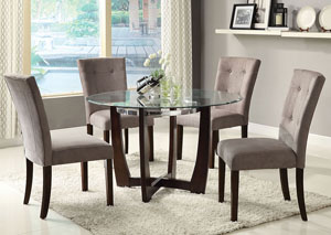 Baldwin Gray Microfiber & Walnut Side Chair (Set of 2)
