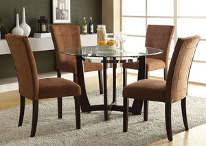 Baldwin Chocolate Microfiber & Walnut Side Chair (Set of 2)