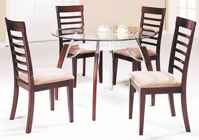 Image for Martini Brown/Chrome Side Chair (Set of 2)