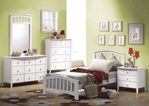 San Marino White Dresser and Mirror