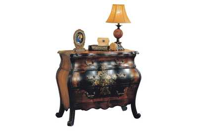 Image for Roma Oak/Antique Black Bombay Chest