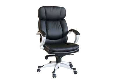 Minta Black PU Office Chair w/Pneumatic Lift