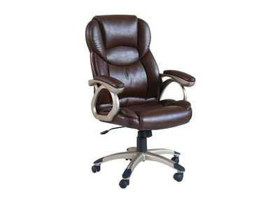 Barton Brown PU Office Chair w/Pneumatic Lift