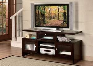 Jupiter Espresso Foldable TV Stand