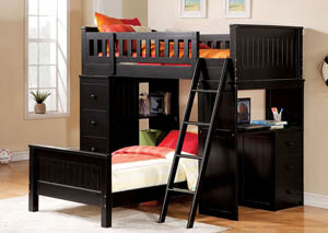 Willoughby Black Twin Bed