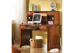 Brandon Antique Oak Computer Desk w/Hutch