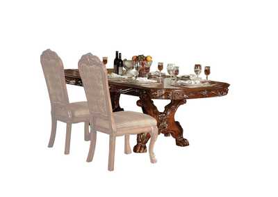 Dresden Cherry Oak Dining Table w/Double Pedestal