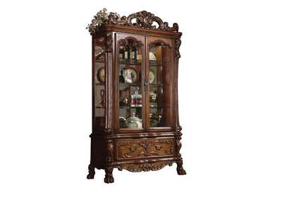 Image for Dresden Cherry Oak Curio Cabinet