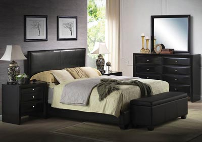 Ireland III Black Queen Bed