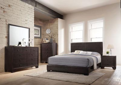 Image for Ireland III Brown Queen Platform Bed