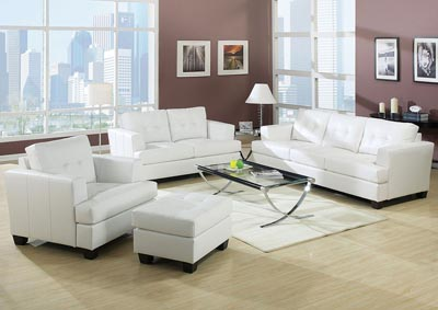 Platinum White Loveseat