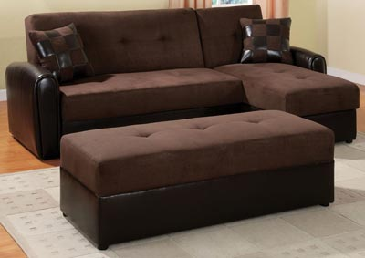 Image for Lakeland Chocolate/Espresso Ottoman
