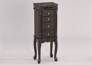 Tiana Espresso Jewerly Armoire