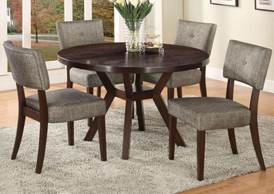 Drake Gray Espresso Side Chair (Set of 2)