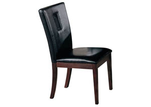 Danville Black/Walnut Side Chair (Set of 2)
