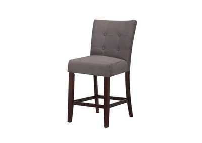 Baldwin Gray Microfiber & Walnut Counter Height Chair (Set of 2),Acme