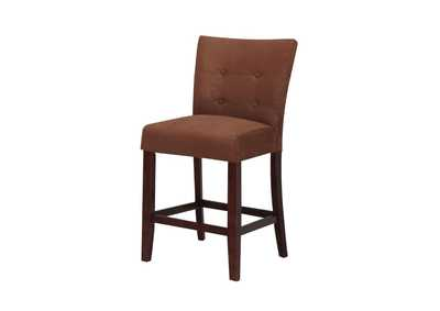 Baldwin Chocolate Microfiber & Walnut Counter Height Chair (Set of 2)