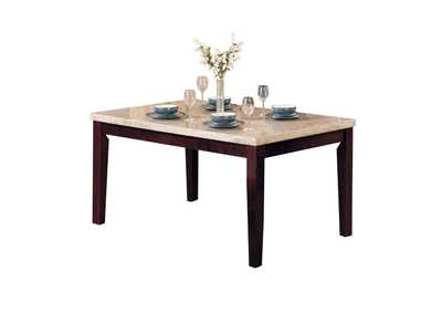 Image for Britney White Marble/Walnut Dining Table
