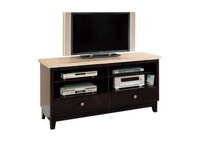 Britney White Marble/Walnut TV Stand