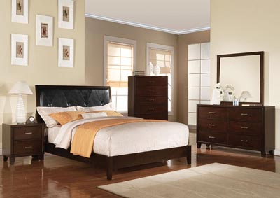 Tyler Black/Cappuccino Queen Bed