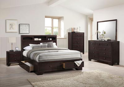 Image for Madison II Espresso Eastern King Storage Bed w/Dresser and Mirror
