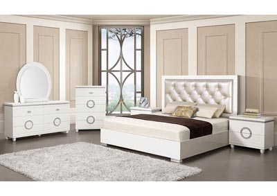 Image for Vivaldi Pearl/White Eastern King Bed