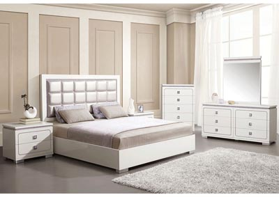 Image for Valentina Pearl/White Queen Bed