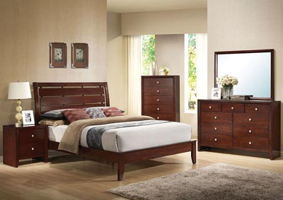 Image for Ilana Brown 2 Drawer Nightstand