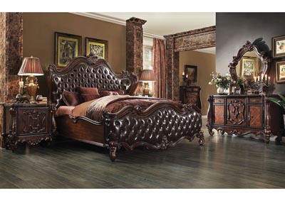 Versailles Two-Tone Brown/Cherry Oak Eastern King Bed