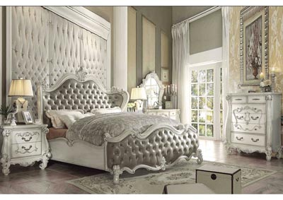 Versailles Vintage Gray/Bone White Eastern King Bed