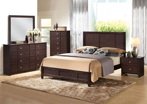 Racie Merlot California King Panel Bed
