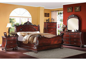 Abramson Cherry California King Sleigh Bed