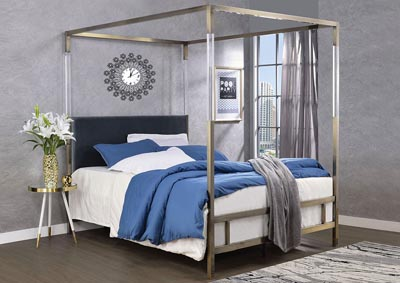 Image for Raegan Gray/Antique Brass Queen Bed