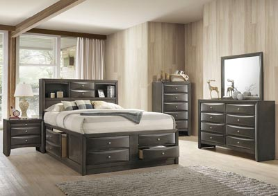 Image for Ireland Gray Oak Queen Bed