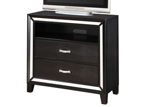 Elberte Black Crocodile PU TV Console