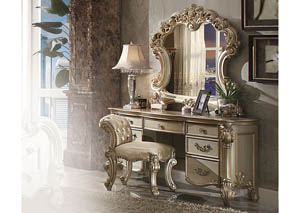 Vendome Gold Patina and Bone Vanity Desk