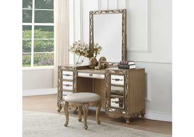 Orianne Antique Gold Vanity Stool