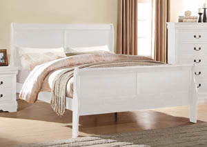 Image for Louis Philippe White Queen Sleigh Bed