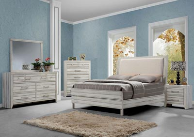 Image for Shayla Antique White Eastern King Bed