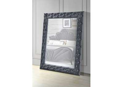 Dante Gray Accent Floor Mirror