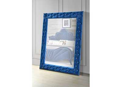 Dante Blue Accent Floor Mirror