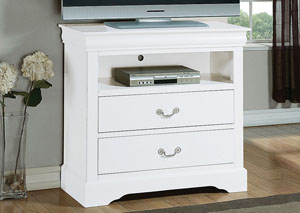 Louis Philippe III White TV Console