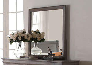 Louis Philippe III Antique Gray Mirror